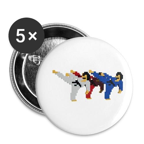 8 bit trip ninjas 2 - Buttons small 1''/25 mm (5-pack)