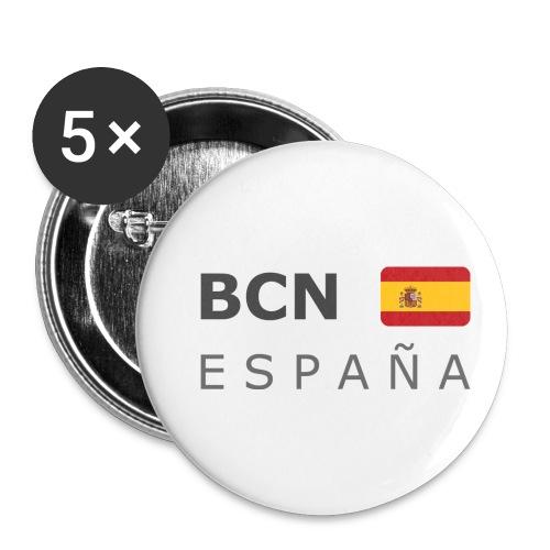 BCN ESPAÑA dark-lettered 400 dpi - Buttons small 1''/25 mm (5-pack)