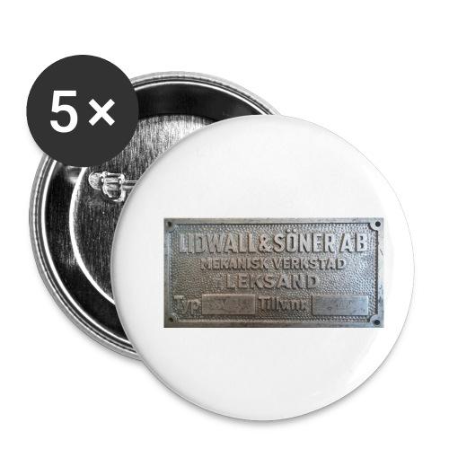 Tillverkningsskylt före 1967 - Små knappar 25 mm (5-pack)