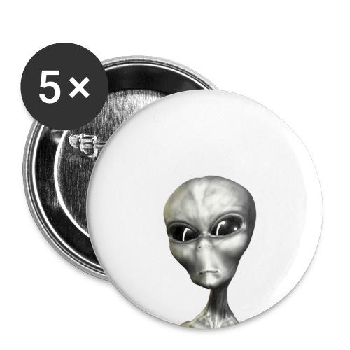 Chapa Alien Gris - Paquete de 5 chapas pequeñas (25 mm)