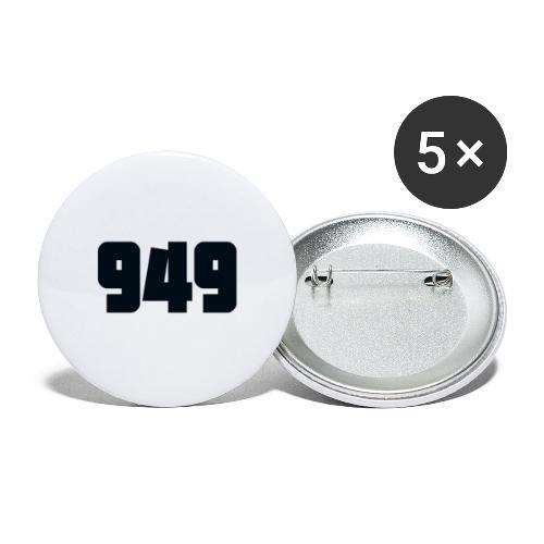949black - Buttons klein 25 mm (5er Pack)