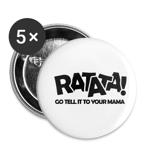RATATA full - Buttons klein 25 mm (5er Pack)