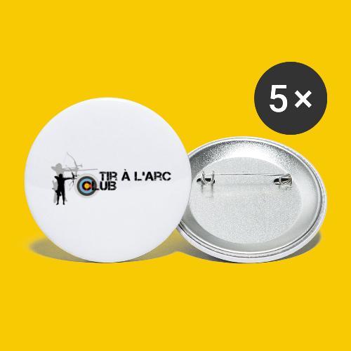 TIR A L ARC CLUB - Lot de 5 petits badges (25 mm)