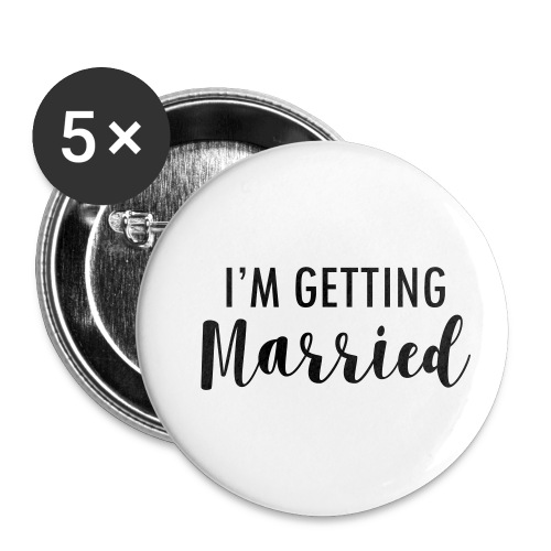 I`m getting married - Buttons klein 25 mm (5er Pack)