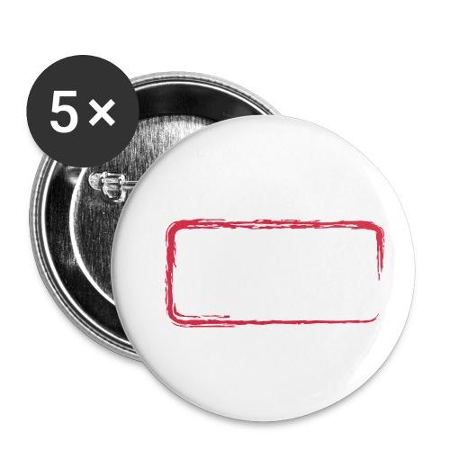 Rahmen_01 - Buttons klein 25 mm (5er Pack)