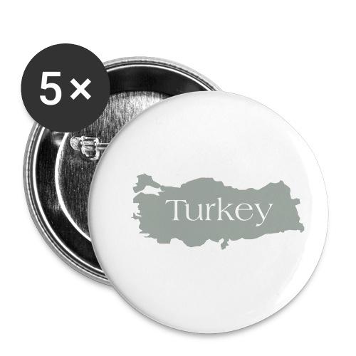 tuerkei - Buttons klein 25 mm (5er Pack)