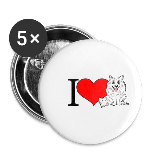superkees zwart wit - Buttons klein 25 mm