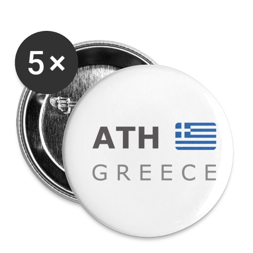 ATH GREECE dark-lettered 400 dpi - Buttons small 1''/25 mm (5-pack)