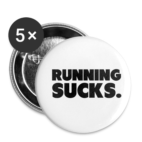 Running Sucks - Rintamerkit pienet 25 mm (5kpl pakkauksessa)