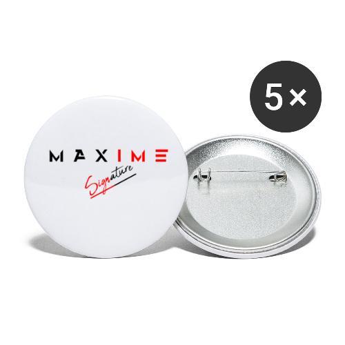 maxime signature - Lot de 5 petits badges (25 mm)