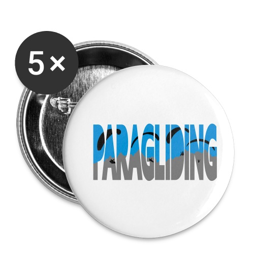 Paragliding Letters - Buttons small 1''/25 mm (5-pack)