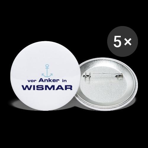 Vor Anker in Wismar - Buttons klein 25 mm (5er Pack)