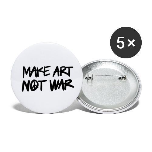Make art, not war! - Små knappar 25 mm (5-pack)