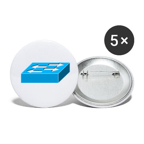 Switch Symbol - Buttons klein 25 mm (5er Pack)