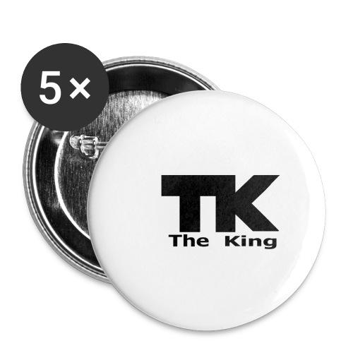 The King med ram - Små knappar 25 mm (5-pack)