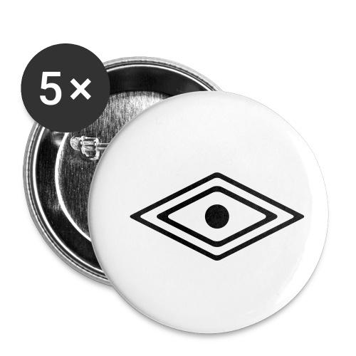 Auge des Medizin Mann, Indianisches Kraft Symbol - Buttons klein 25 mm (5er Pack)