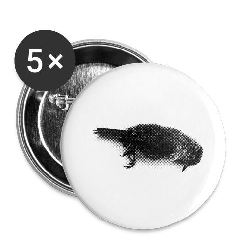 Die bird die !!! - Lot de 5 petits badges (25 mm)