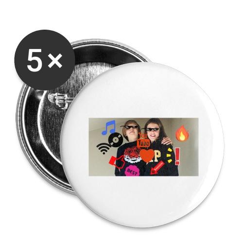 Coolrockskingen och Jojo - Små knappar 25 mm (5-pack)