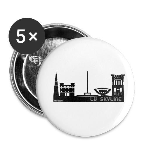 Lu skyline de Terni - Confezione da 5 spille piccole (25 mm)
