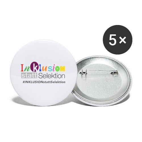 Inklusion statt Selektion - Buttons klein 25 mm (5er Pack)