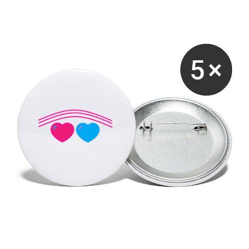 Das Design mit Herz - Buttons klein 25 mm (5er Pack)
