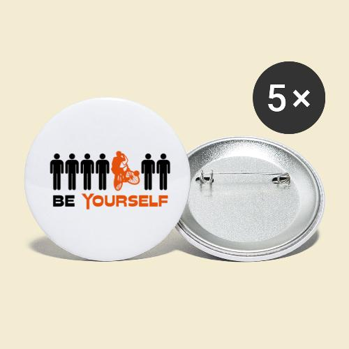 Radball | Be Yourself - Buttons klein 25 mm (5er Pack)