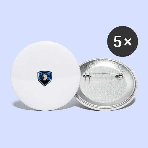 HypeCw logo (Silver) - Buttons small 1''/25 mm (5-pack)