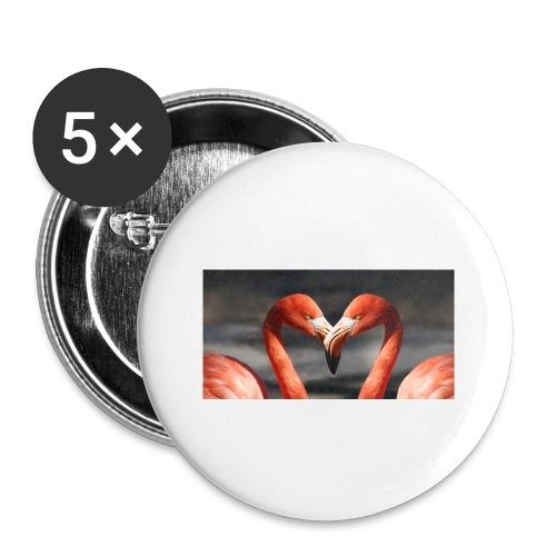 flamingo - Buttons klein 25 mm (5er Pack)