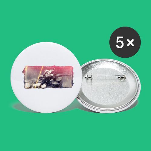 tireur couche - Lot de 5 petits badges (25 mm)