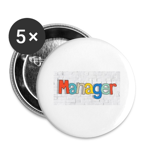 manager - Buttons/Badges lille, 25 mm (5-pack)
