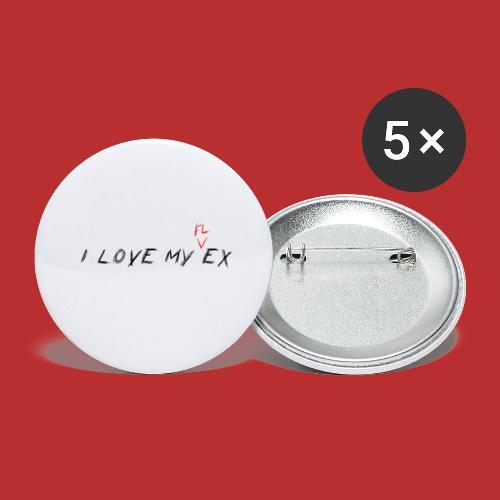 i love my flex not my ex - Confezione da 5 spille piccole (25 mm)