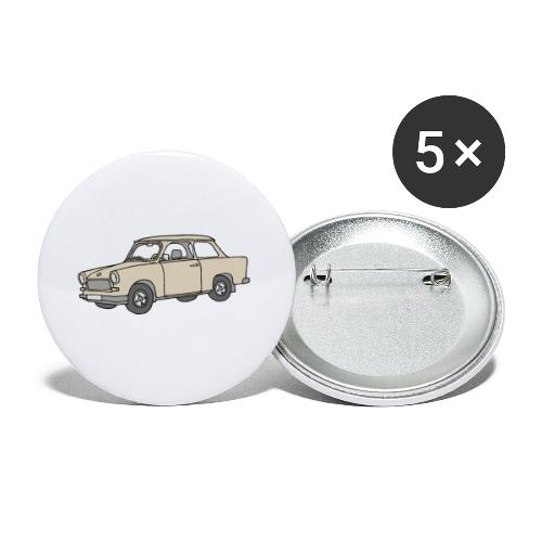 Trabi, Trabant (papyrus) - Buttons klein 25 mm (5er Pack)