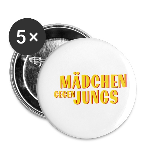 Mädchen gegen Jungs - Buttons klein 25 mm (5er Pack)