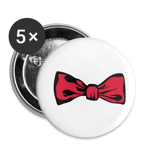 noeud papillon 2711 - Lot de 5 petits badges (25 mm)
