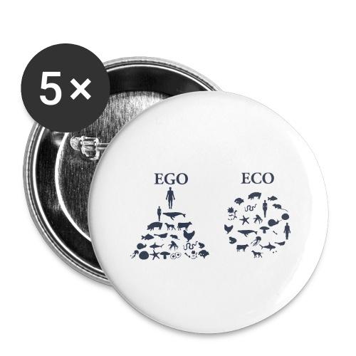 Ego VS Eco - Confezione da 5 spille piccole (25 mm)