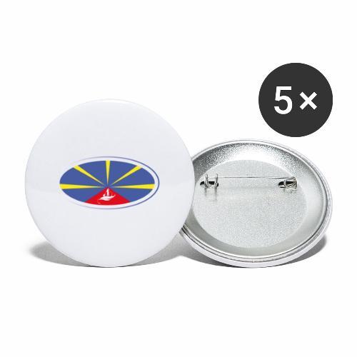 Paddle Reunion Flag - Lot de 5 petits badges (25 mm)