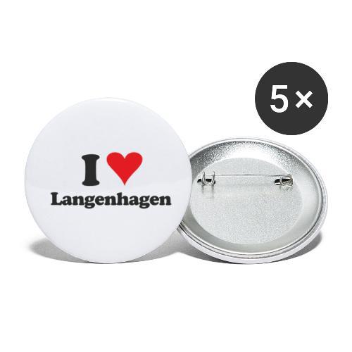 I Love Langenhagen - Buttons klein 25 mm (5er Pack)