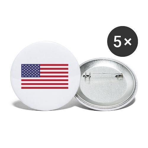 USA flagg - Liten pin 25 mm (5-er pakke)