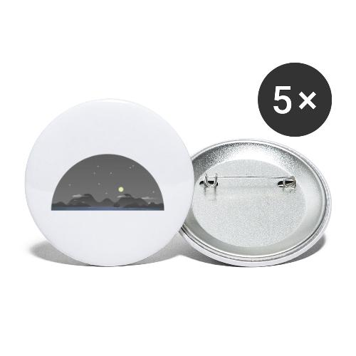 Nachthimmel - Buttons klein 25 mm (5er Pack)