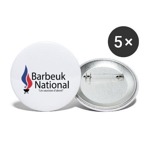 BARBEUK NATIONAL - Lot de 5 petits badges (25 mm)