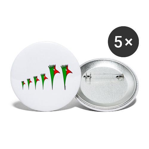 Galoloco - Família 4 - Buttons klein 25 mm (5er Pack)