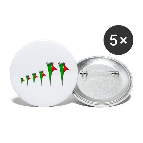 Galoloco - Família 4 - Lot de 5 petits badges (25 mm)