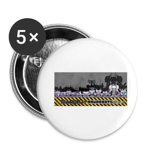 #MarchOfRobots ! LineUp Nr 2 - Buttons/Badges lille, 25 mm (5-pack)