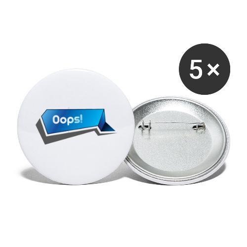 Oops! - Små knappar 25 mm (5-pack)