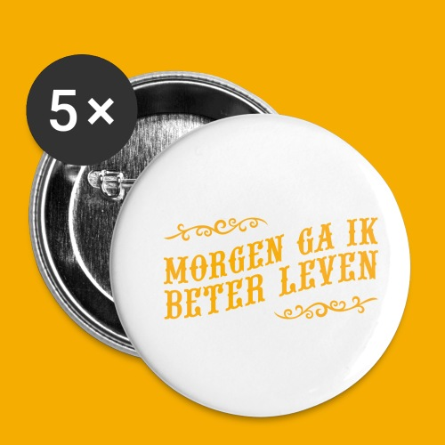 tshirt yllw 01 - Buttons klein 25 mm (5-pack)