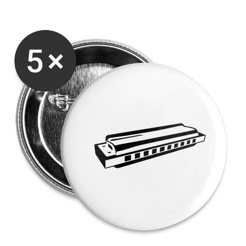 Harmonica - Buttons small 1''/25 mm (5-pack)