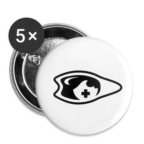 palme oeil lunette - Lot de 5 petits badges (25 mm)