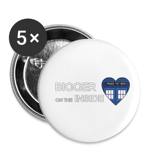 Tardis Heart - Buttons small 1''/25 mm (5-pack)