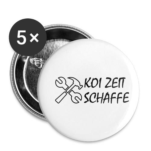KoiZeit - Schaffe - Buttons klein 25 mm (5er Pack)