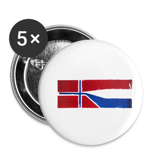 VHEH - CONNECTION (Norwegian Dutch Flag) - Buttons small 1''/25 mm (5-pack)